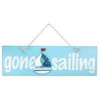 7047S - Wooden Gone Sailing Sign