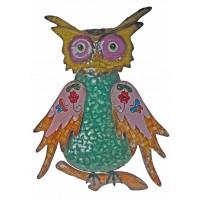 8354 - Wise Metal Owl