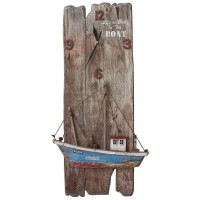 6961 - Clock with Boat Decor