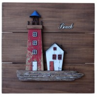 6975 - Rustic Lighthouse Plaque